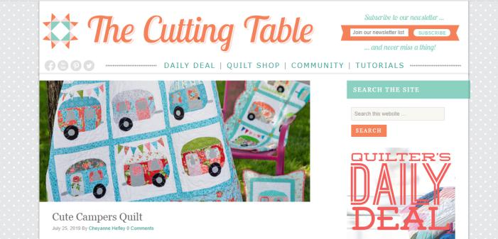 The Cutting Table for quilters