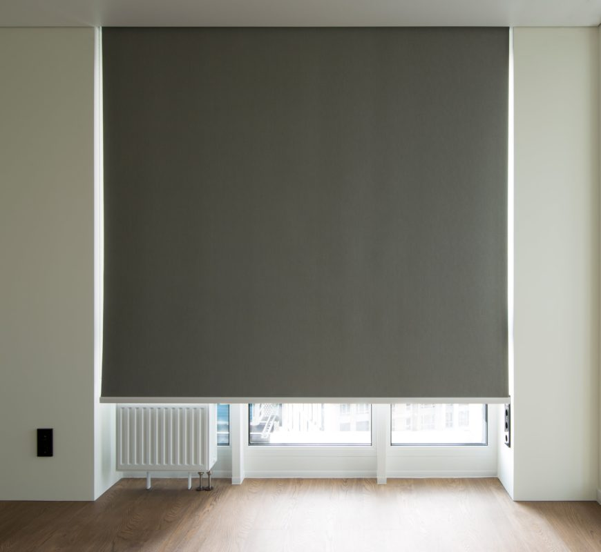 Large Beige Thermal Black Out Roller Blinds