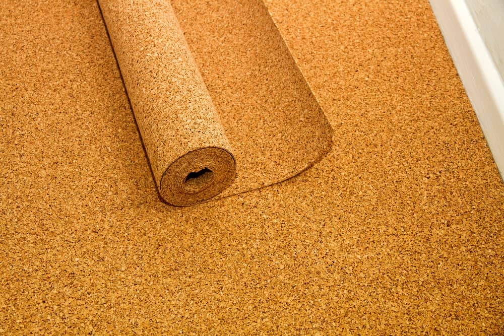 Cork flooring with sound insulator