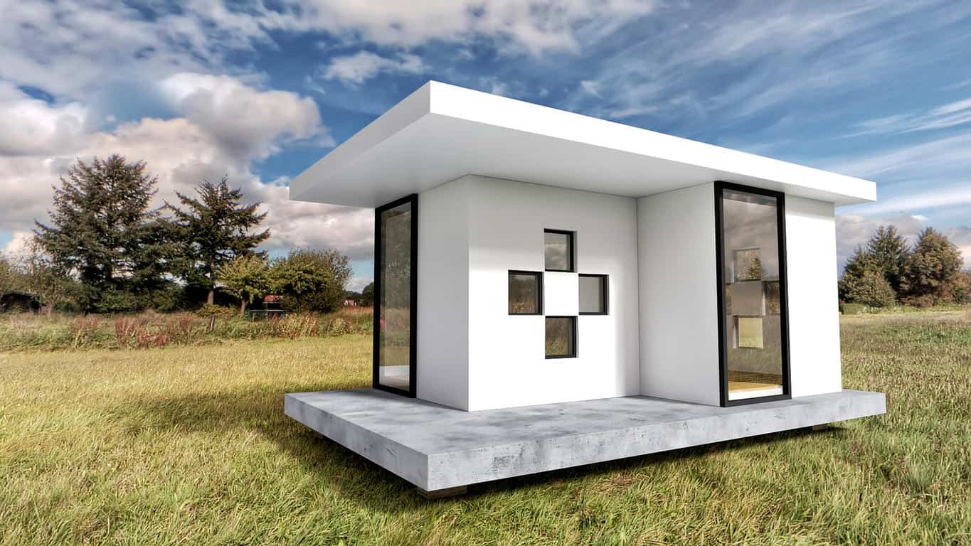 Modern White Tiny House Exterior