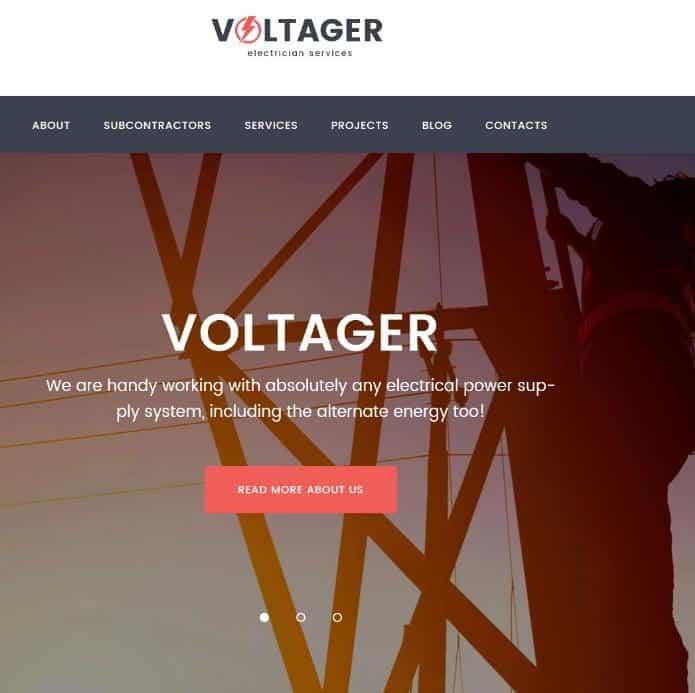 Voltager WordPress Theme