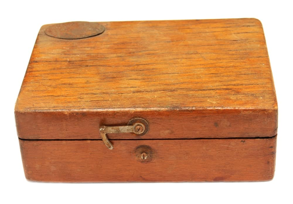 Light Brown Wooden Tool Box