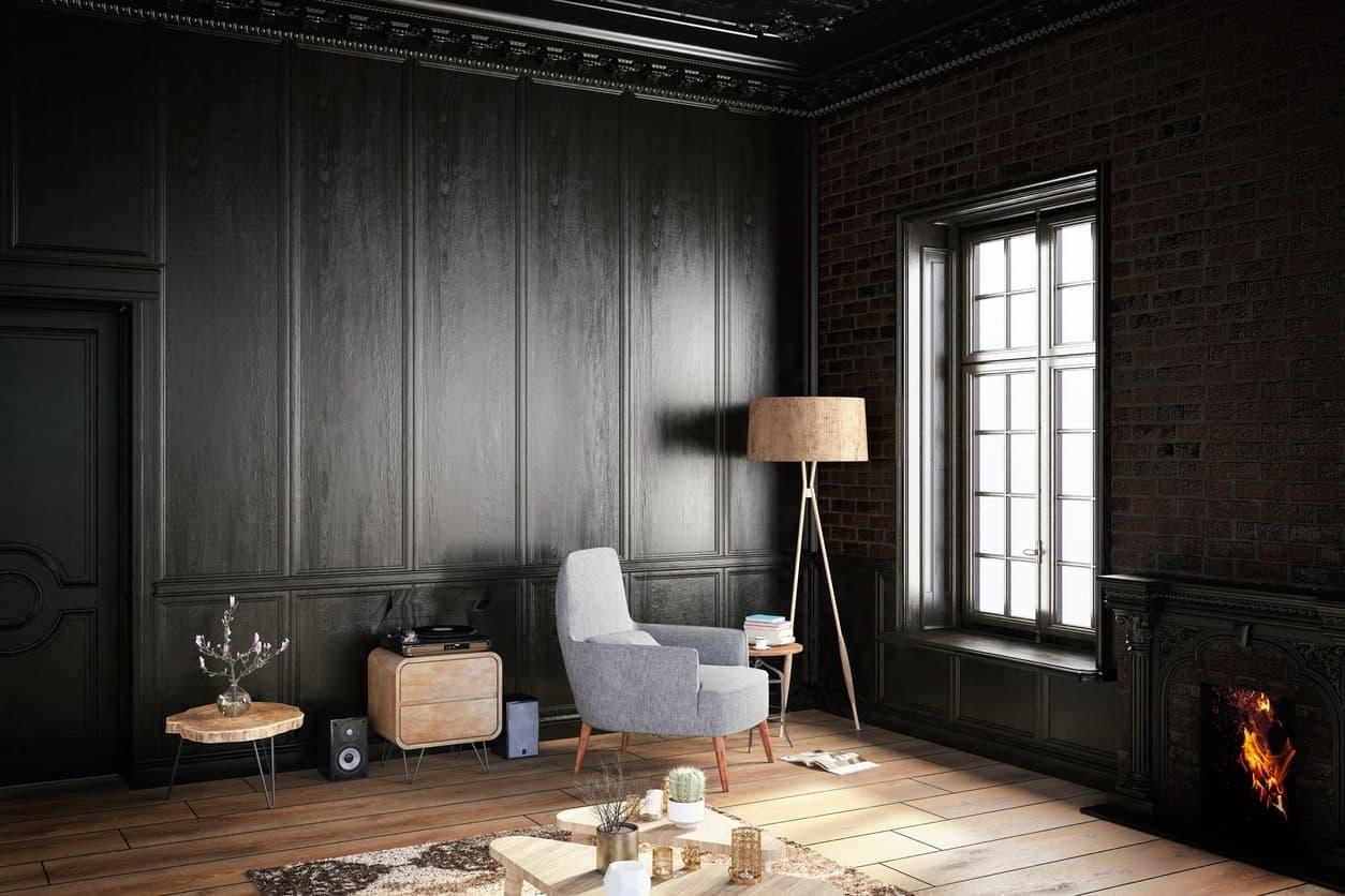 appealing black living room interior designs | 60 Black Interior Design Ideas (Black Room Designs)
