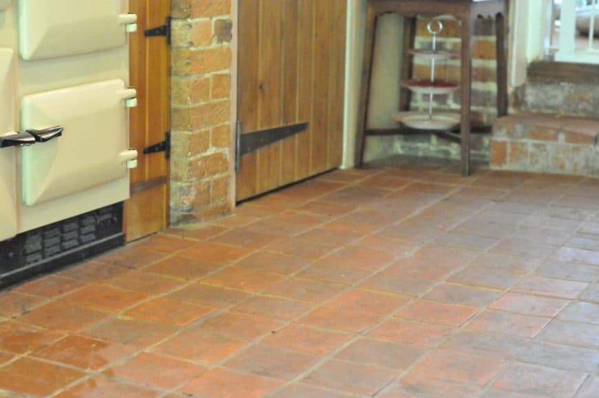 A terracotta tiles flooring can be a great addition to a rustic-style home.