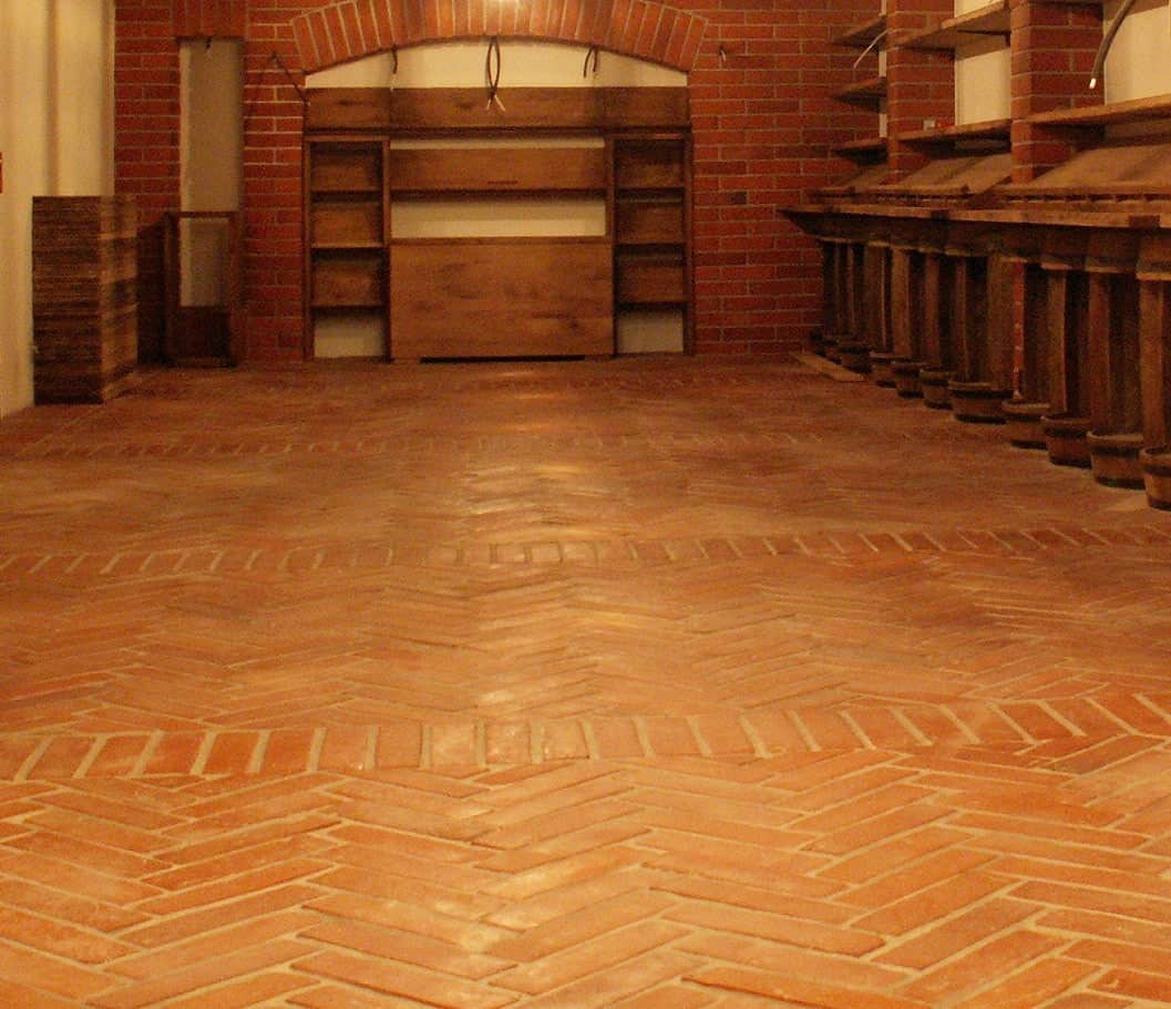 A stylish patterned terracotta tiles flooring.