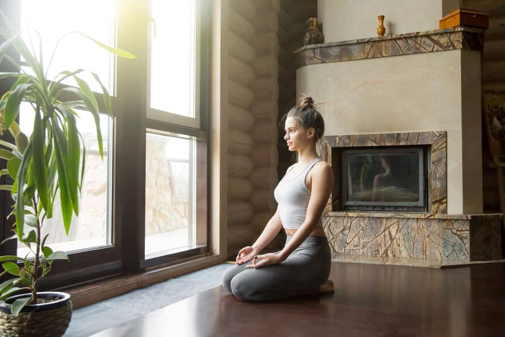 large window in meditation space in the house