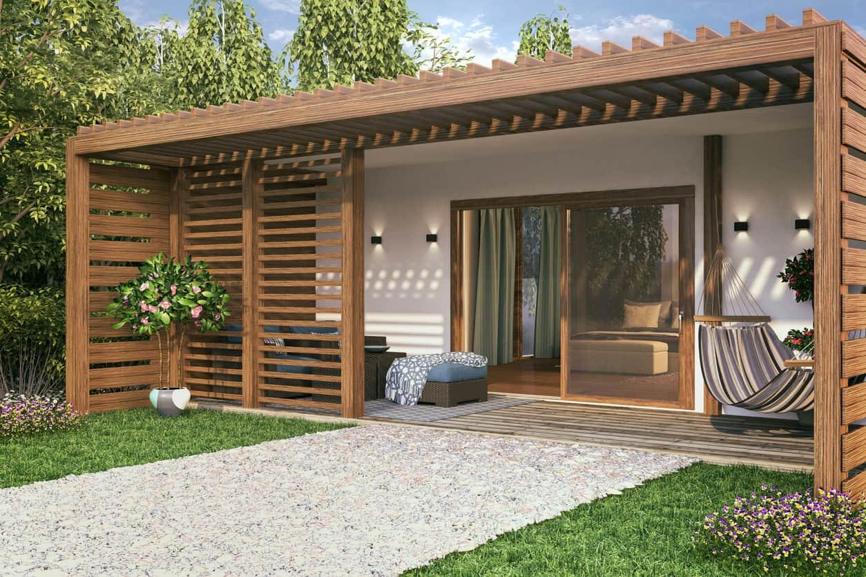 modern tiny house flat roof