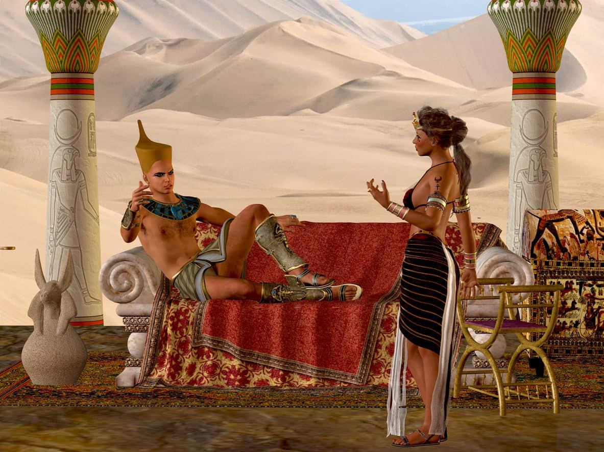 Ancient Egyptian couple illustration