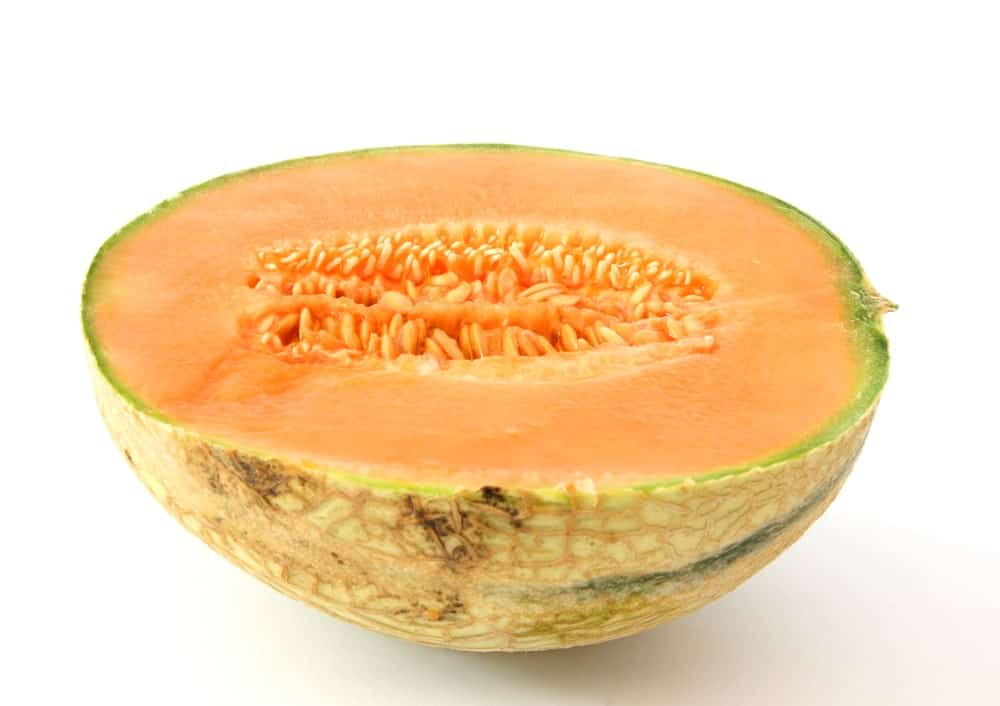 Asian cantaloupe with slightly netted rind