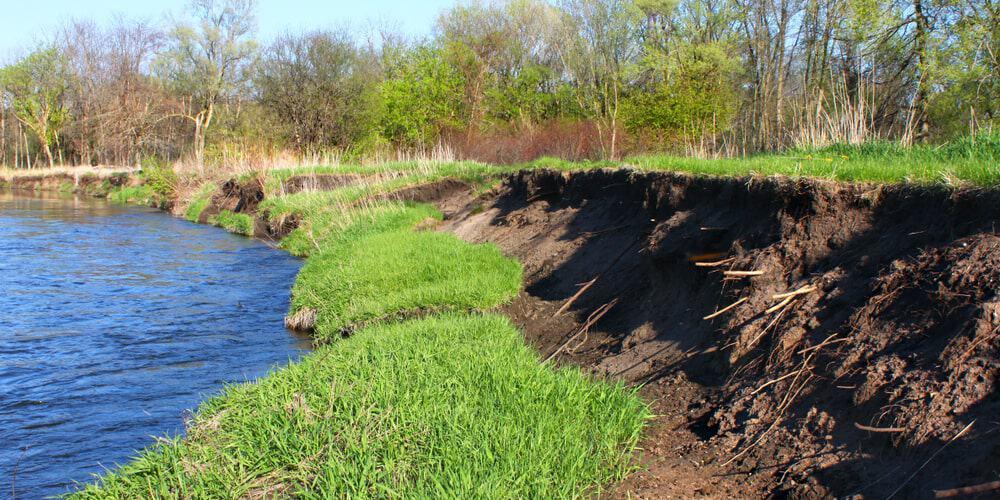 Riverbank erosion