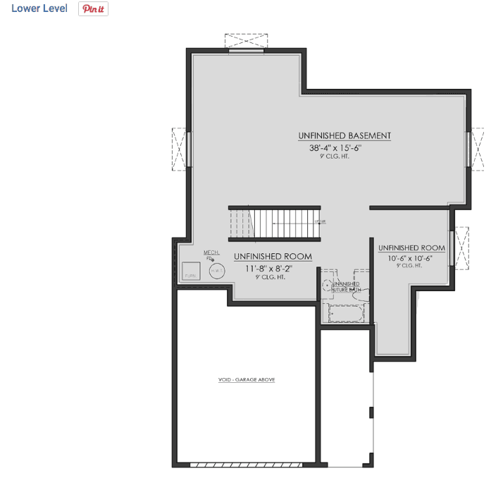 Basement floor plan example