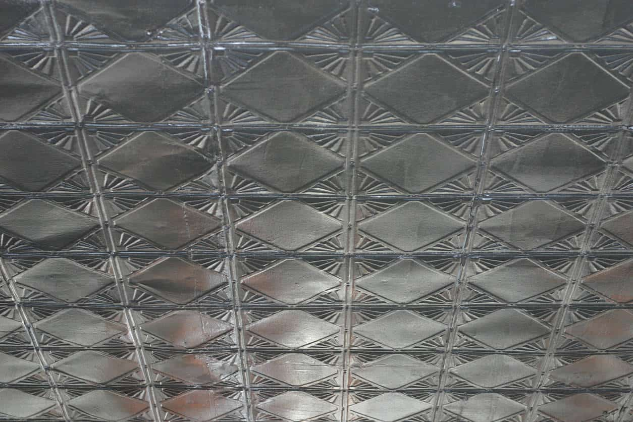 Black tin ceiling tiles