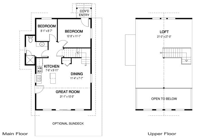 Cabin floor plan example