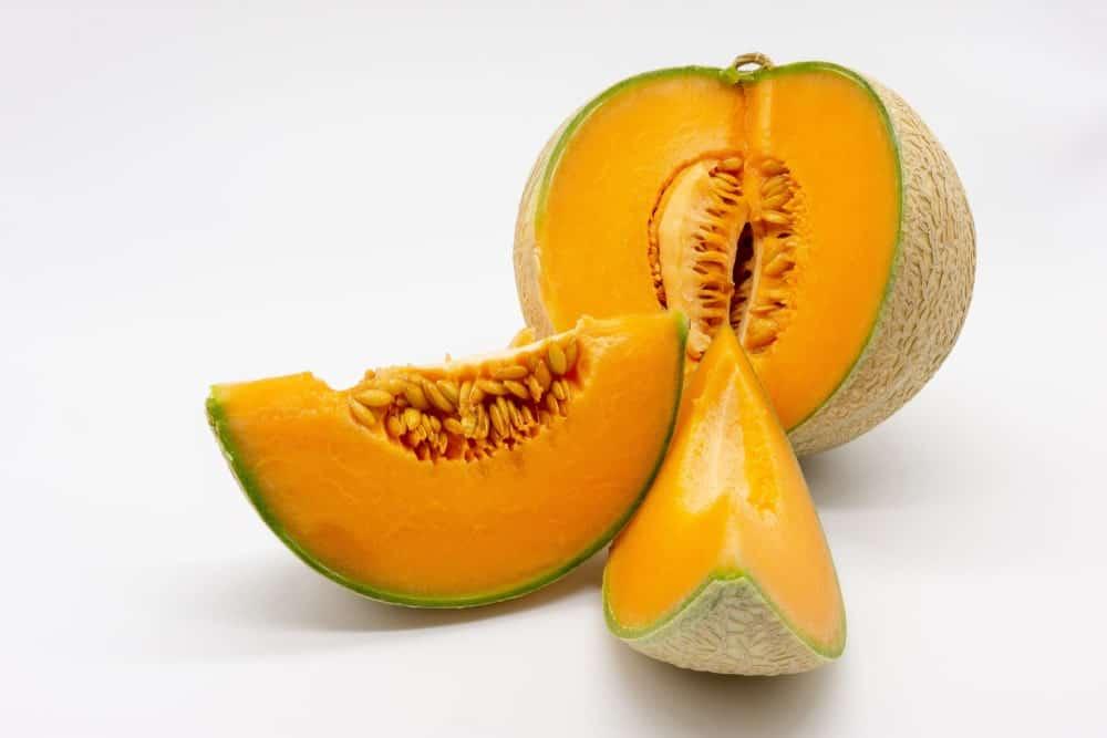 Charentais cantaloupe with vivid orange flesh