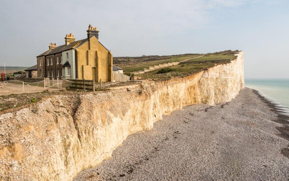 Erosion along the coast