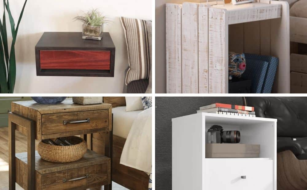 Collage of unique nightstands