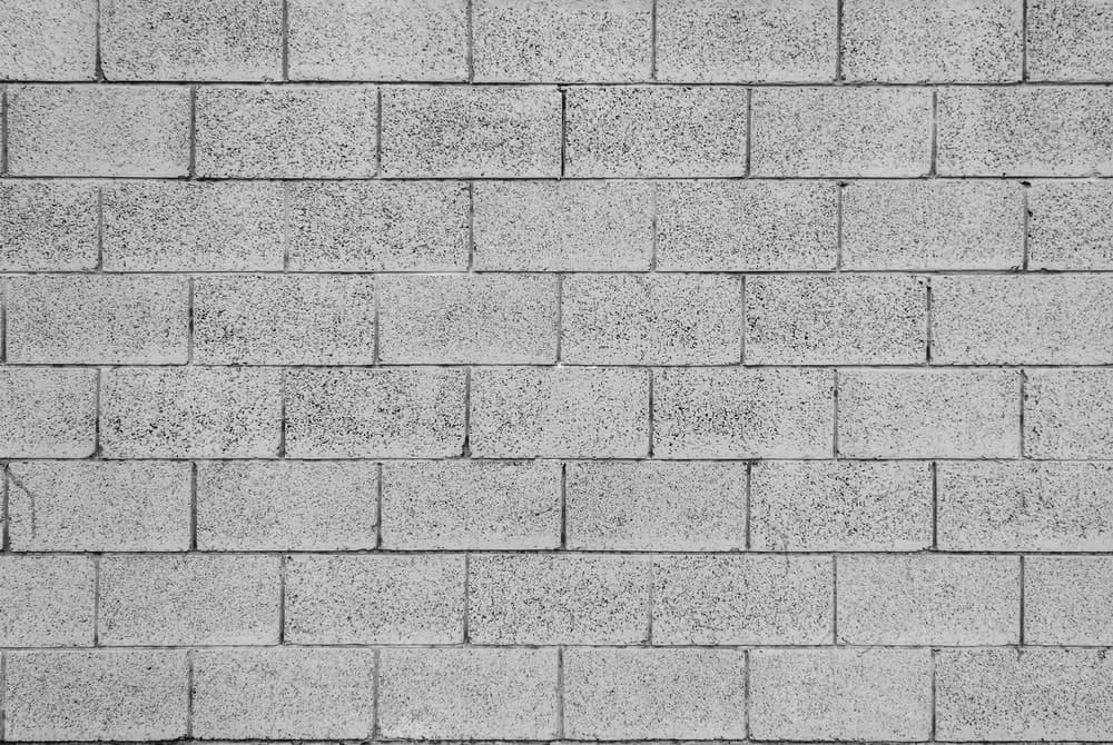Concrete bricks used to build a wall