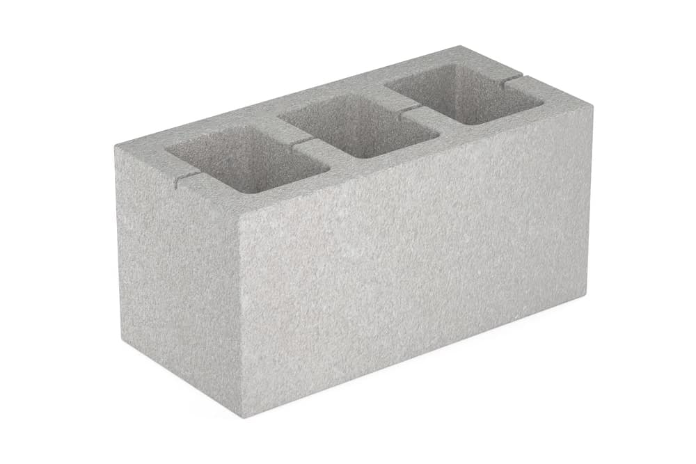 Concrete pillar variety of hollow concrete blocks