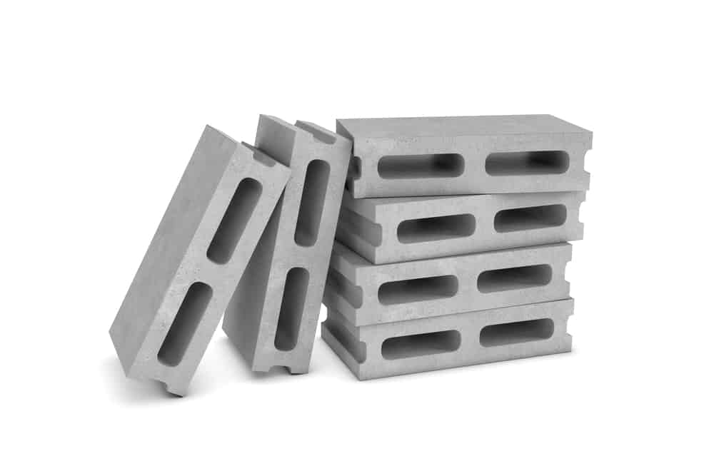 Stretcher variety of hollow concrete blocks