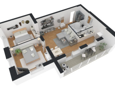 Cool 3D floor plan design