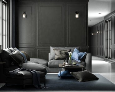 Cool black living room design
