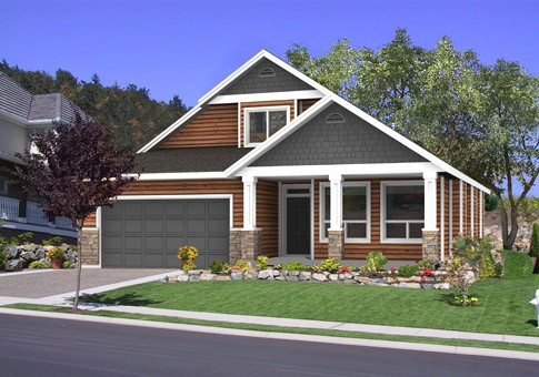 Craftsman exterior house example