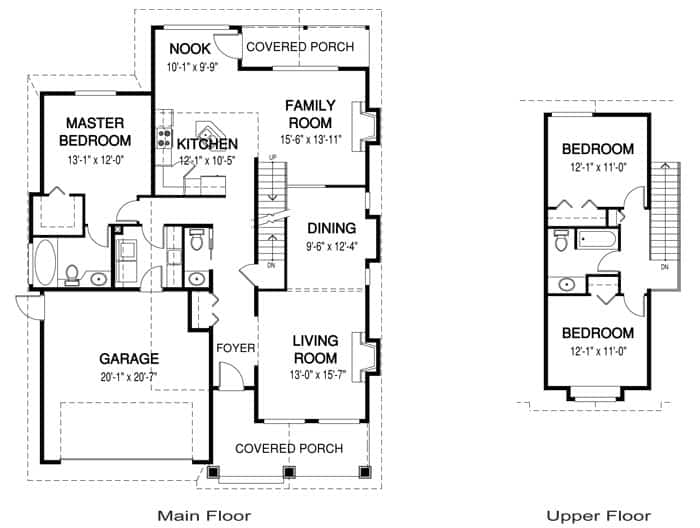 Example of a Craftsman style house floor plan