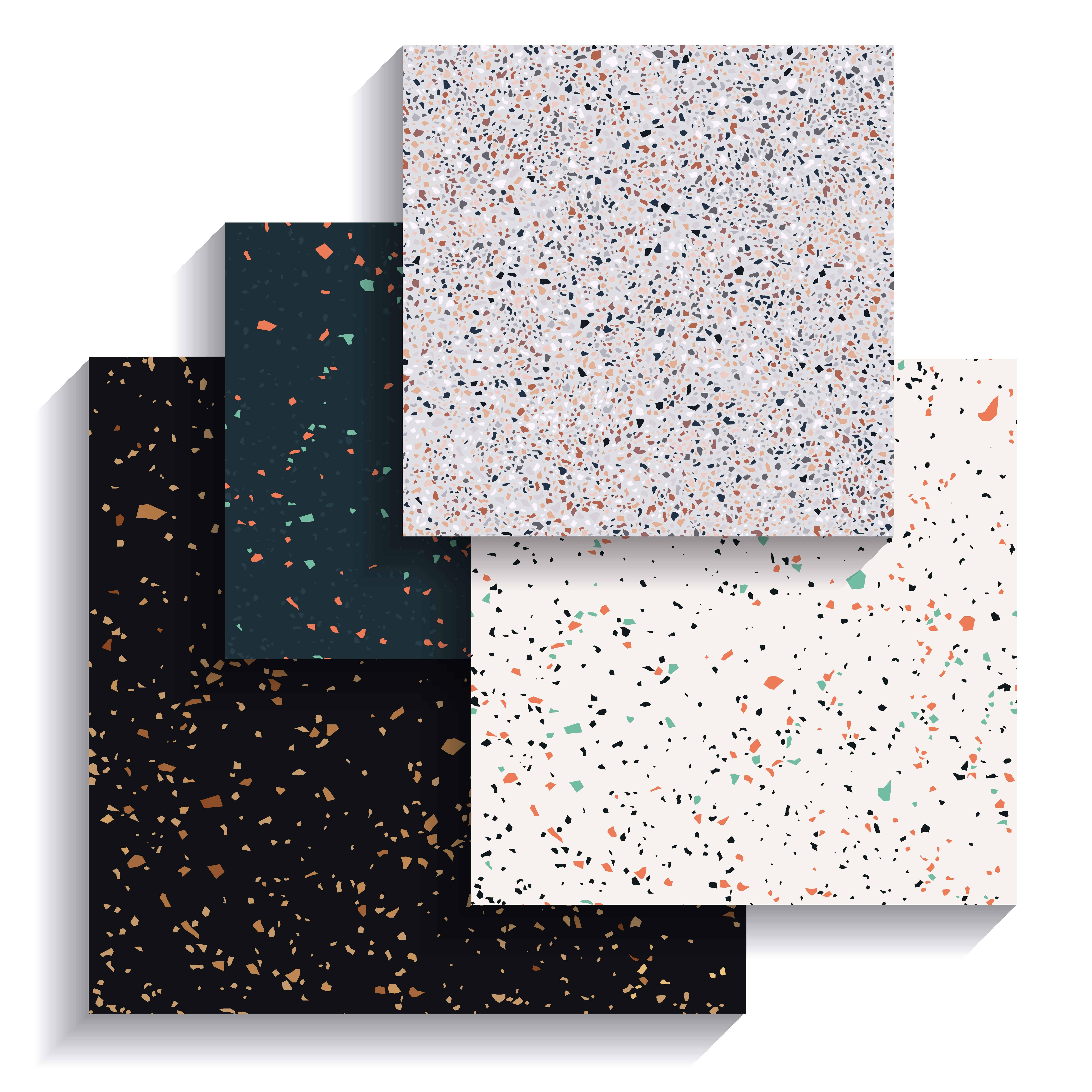 Terrazzo tile flooring