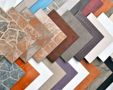 Various surfaces made from different flooring tiles