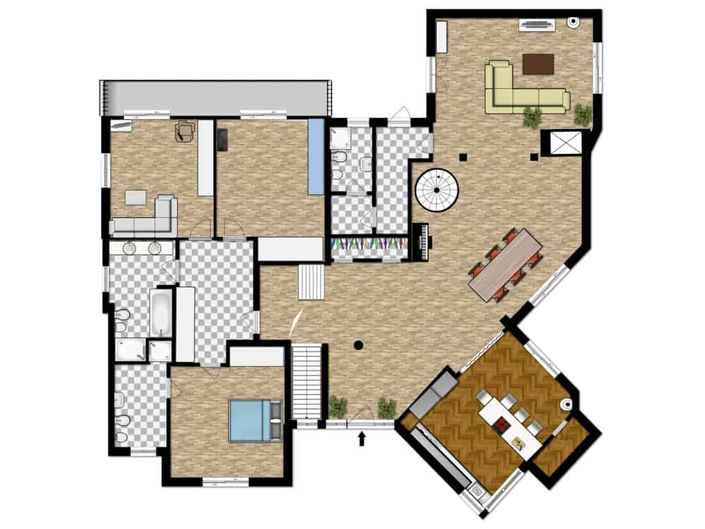 Example of a detailed 2D floor plan