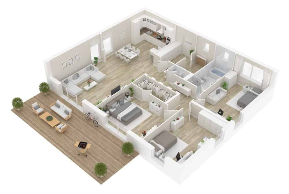 Example of a 3D floor plan