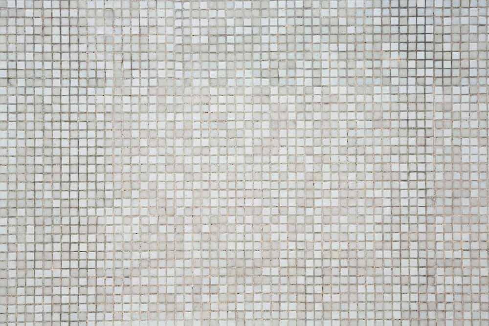 White and grey mosaic tile flooring
