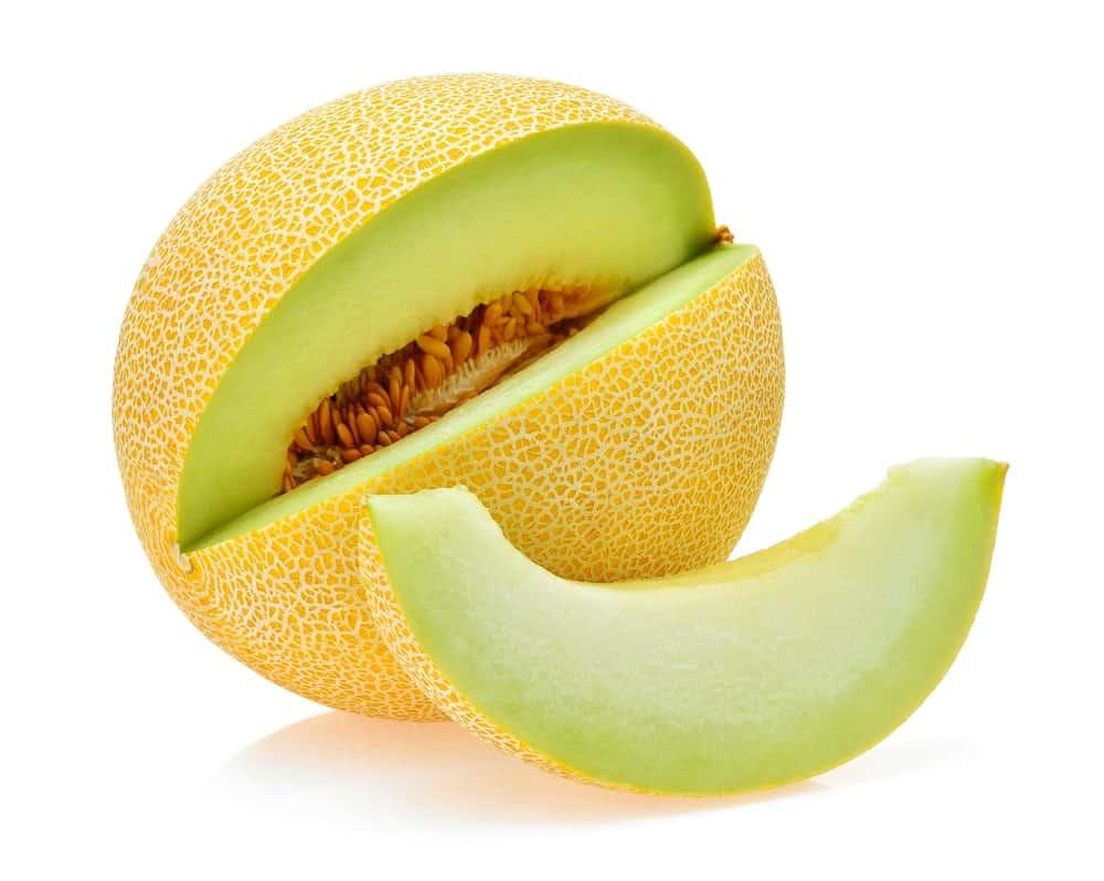 Galia cantaloupe with greenish flesh