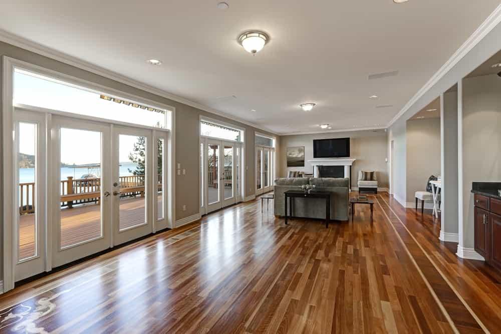 Luxury hardwood floor application