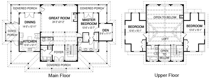 Mountain style house floor plan