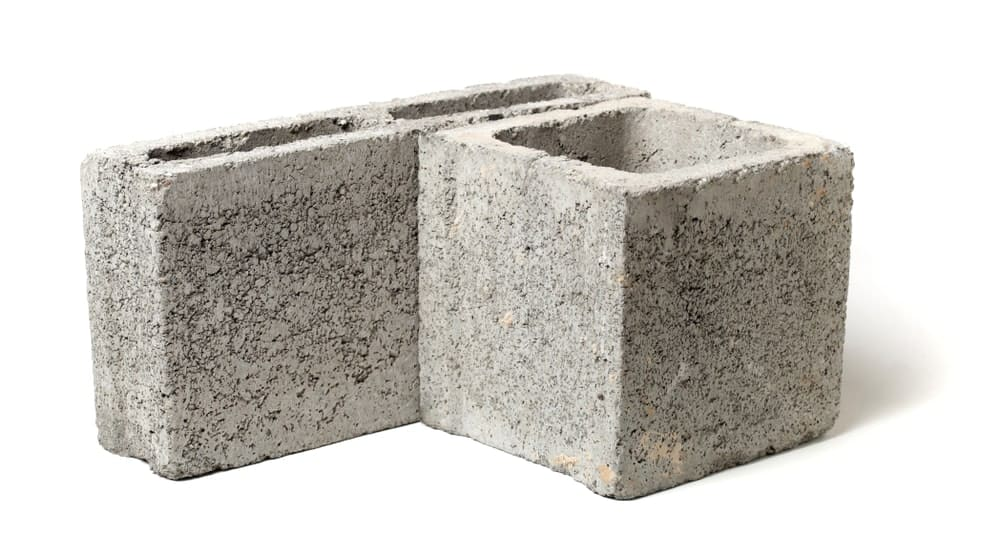 Tall, hollow concrete blocks