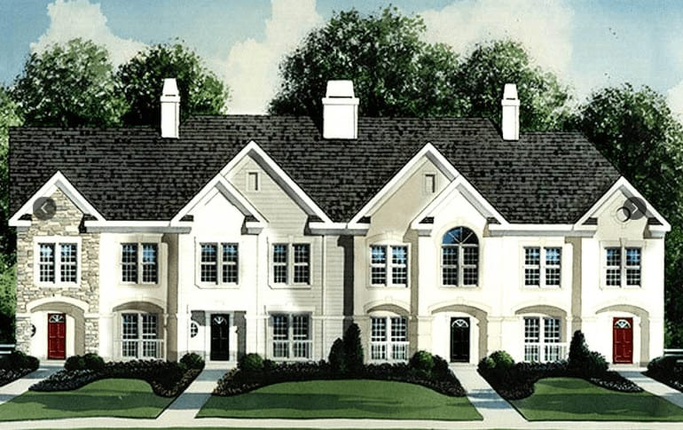 Photo example of a townhouse development