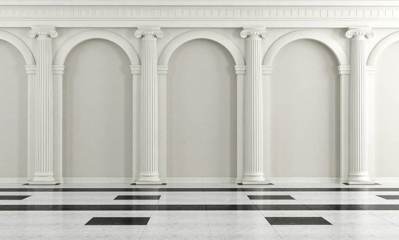 Photos of different columns and arches