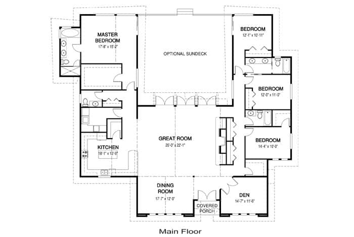 Floor plan for ranch style house
