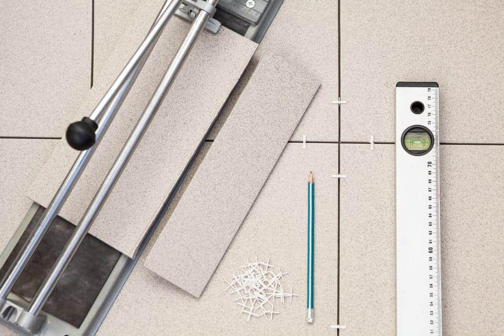 Cutting and measuring porcelain tiles