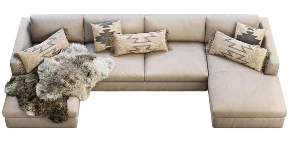 Example of a sectional sofa lounger
