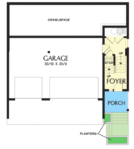Split level house lower level floor plan
