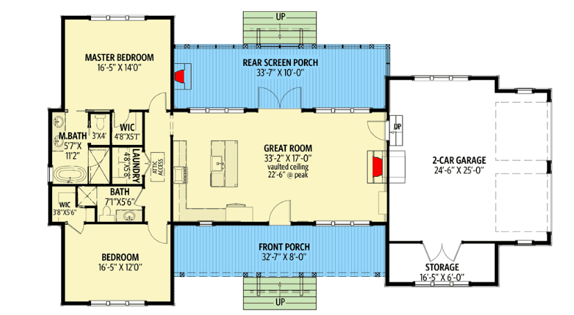 Upper floor of house with two bedrooms