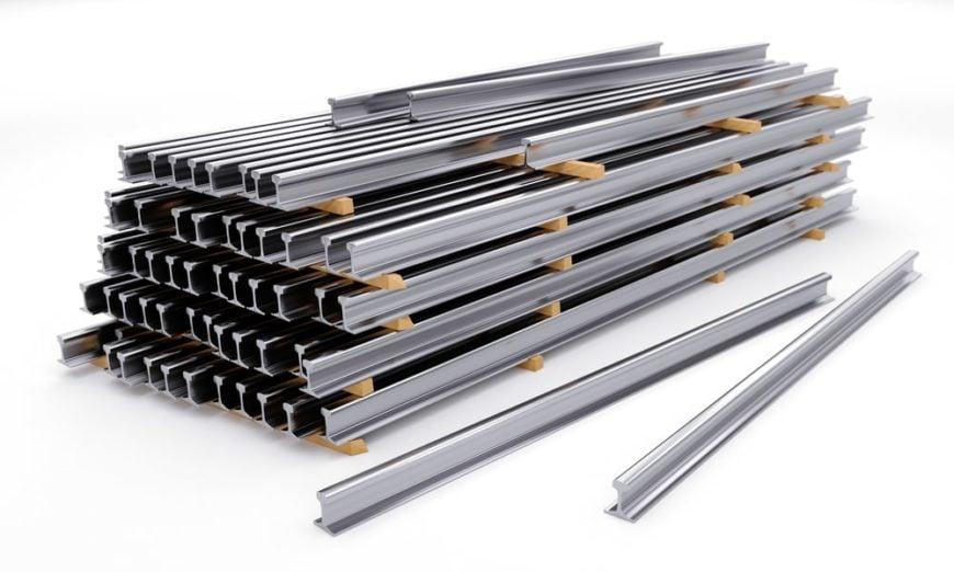 Steel rails made of nickel steel