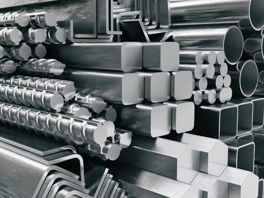 Metal profiles and tubes made of stainless steel
