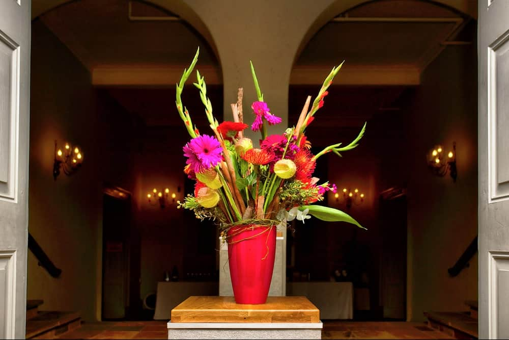 A bouquet in a vase