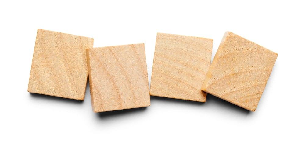 Wooden tiles concept