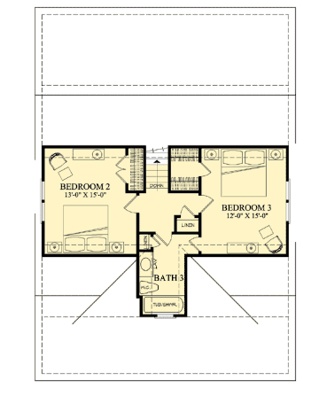 cottage second floor plan