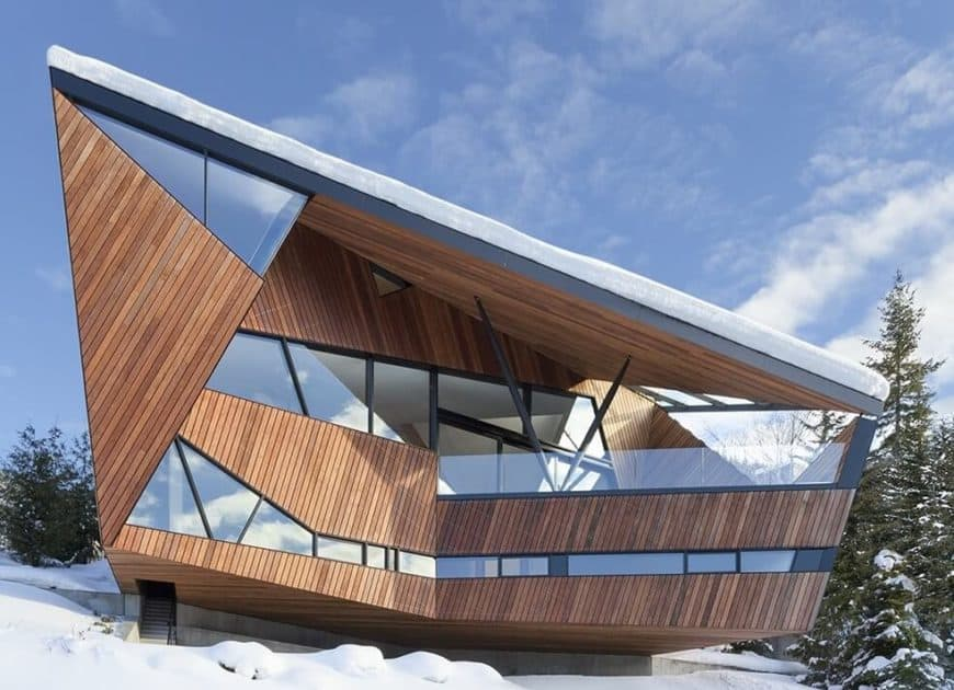 A contemporary house with a breathtaking look because of its exterior design.