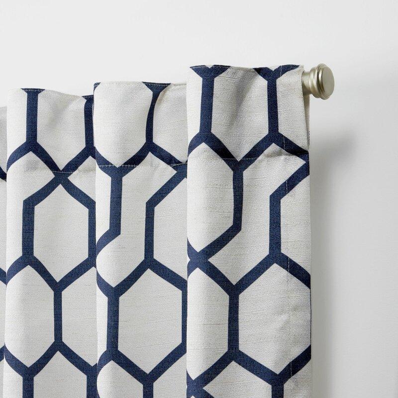 Hidden tab curtains